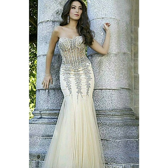 David\'s Bridal Dresses | Mermaid Sequence Prom Dress Nwot | Poshmark